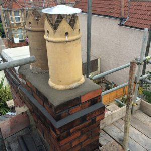 bishop pot cowls made and repointing completed