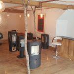 wood burning stove showroom
