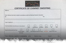 sweeping certificate