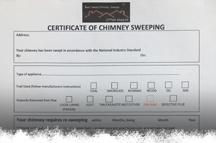 sweeping certificate