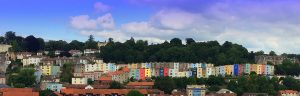 multi coloured housing